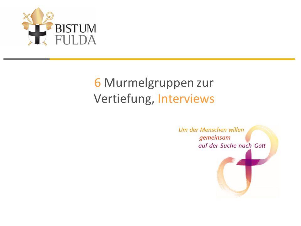 6 Murmelgruppen zur Vertiefung, Interviews