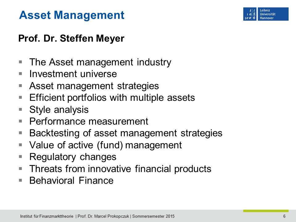 7 Risk Management Jun.-Prof.Dr.