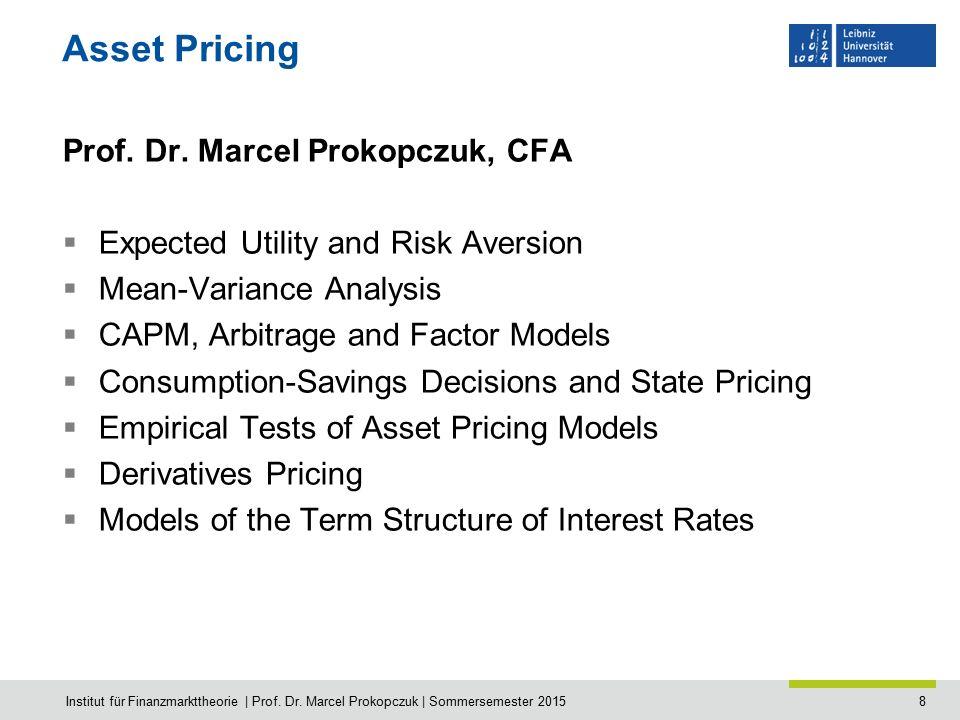 9 Computational Finance Prof.Dr. Michael Breitner, Jun.-Prof.