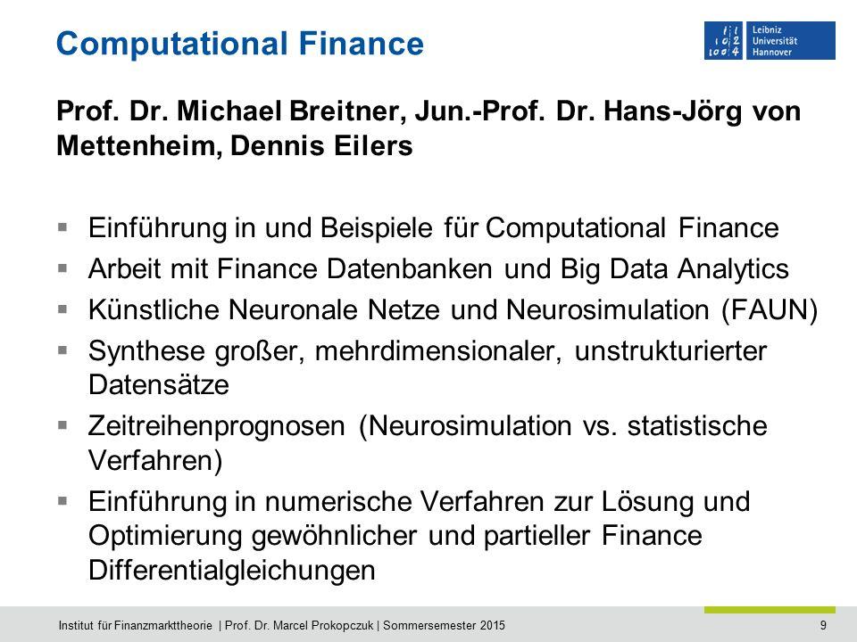 10 Statistical Methods in Finance Dr.