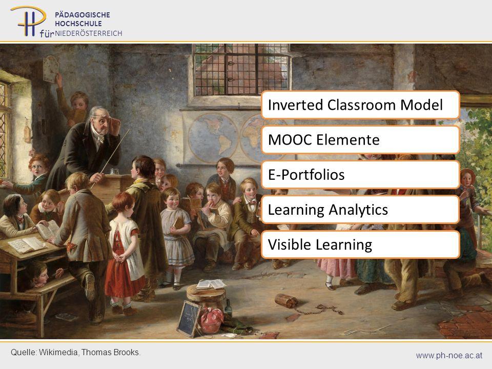 07.07.201613 07.07.201613 PÄDAGOGISCHE HOCHSCHULE NIEDERÖSTERREICH für www.ph-noe.ac.at Quelle: Wikimedia, Thomas Brooks. Inverted Classroom Model MOO