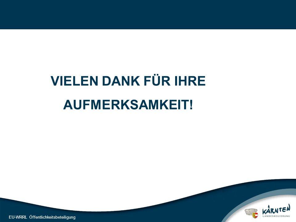 25 EU-WRRL Öffentlichkeitsbeteiligung VIELEN DANK FÜR IHRE AUFMERKSAMKEIT!