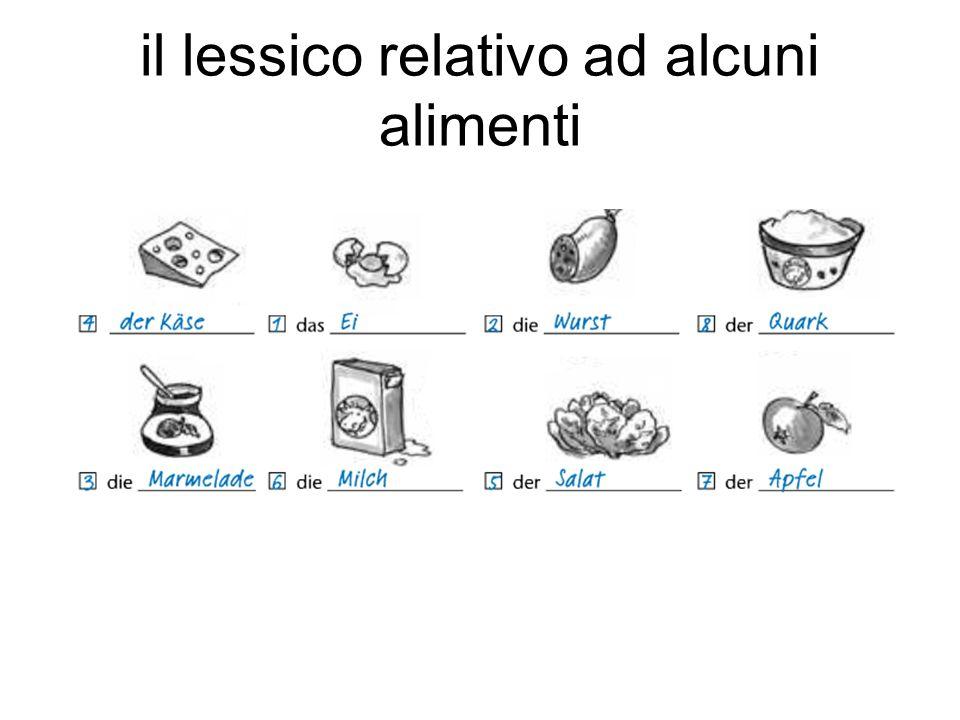 il lessico relativo ad alcuni alimenti