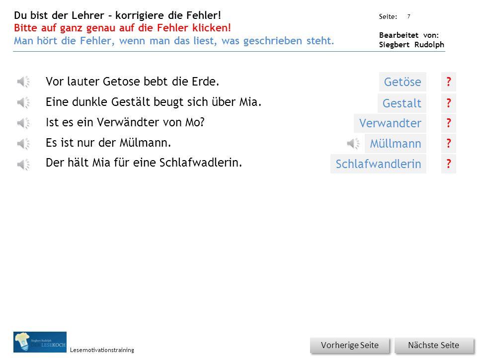 Übungsart: Seite: Bearbeitet von: Siegbert Rudolph Lesemotivationstraining 6 Silbenhammer Bitte klicken! Nächste Seite Vorherige Seite Schlaf wand Sch