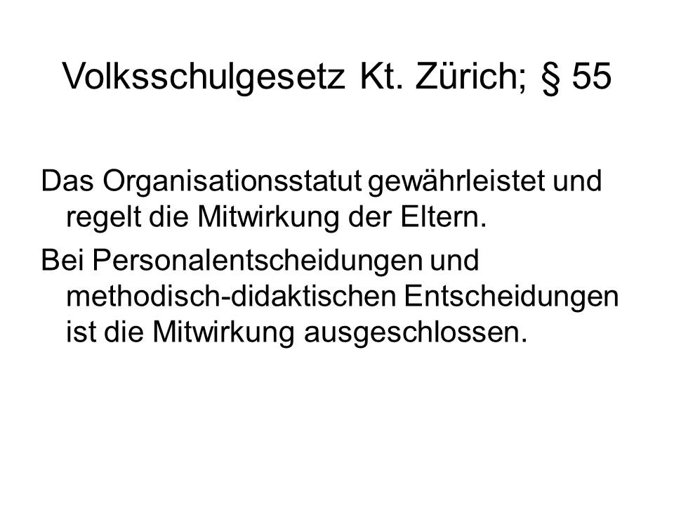 Volksschulgesetz Kt.