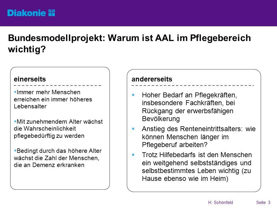 H. SchönfeldSeite 3 Bundesmodellprojekt: Warum ist AAL im Pflegebereich wichtig.