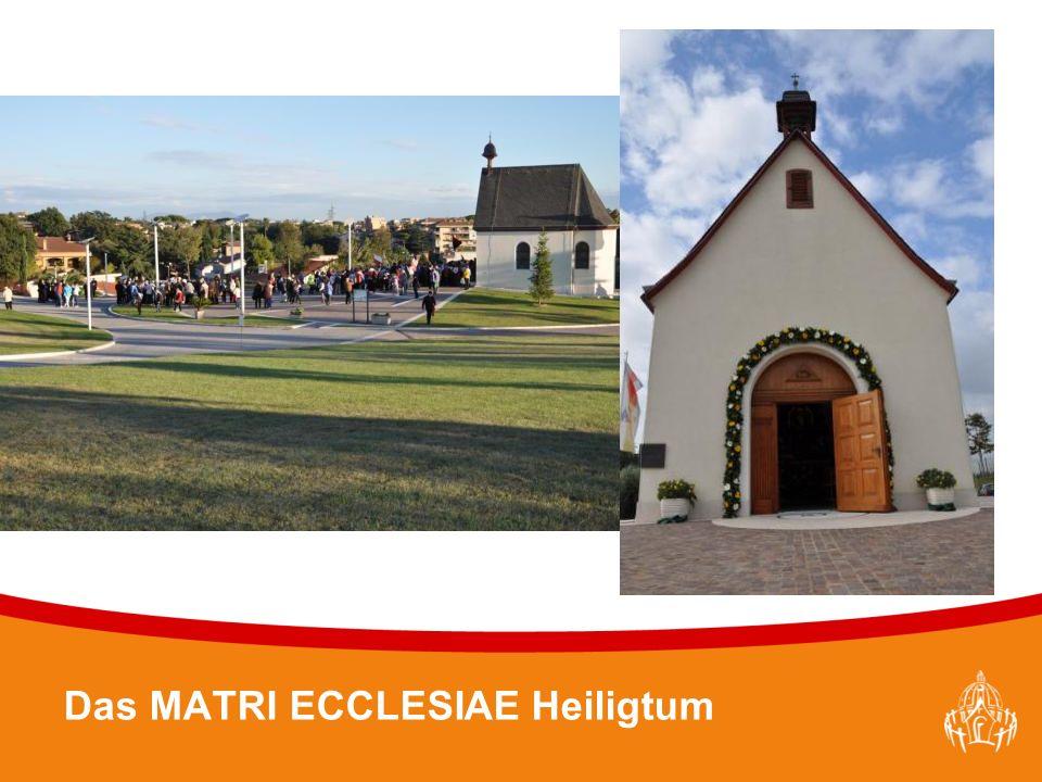 Textmasterformate durch Klicken bearbeiten 22 Das MATRI ECCLESIAE Heiligtum