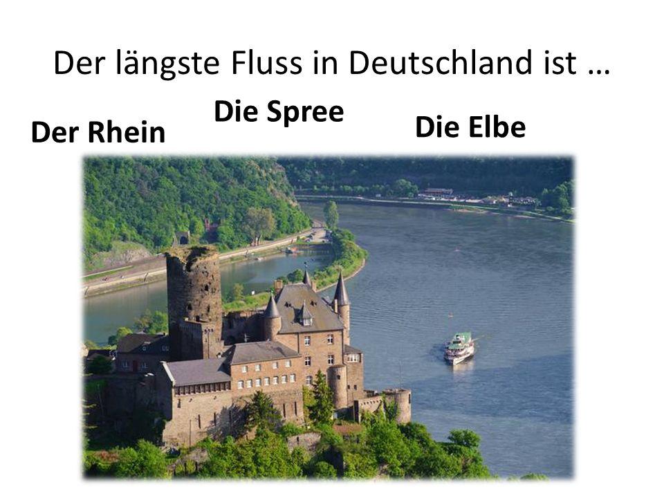 Der längste Fluss in Deutschland ist … Der Rhein Die Spree Die Elbe