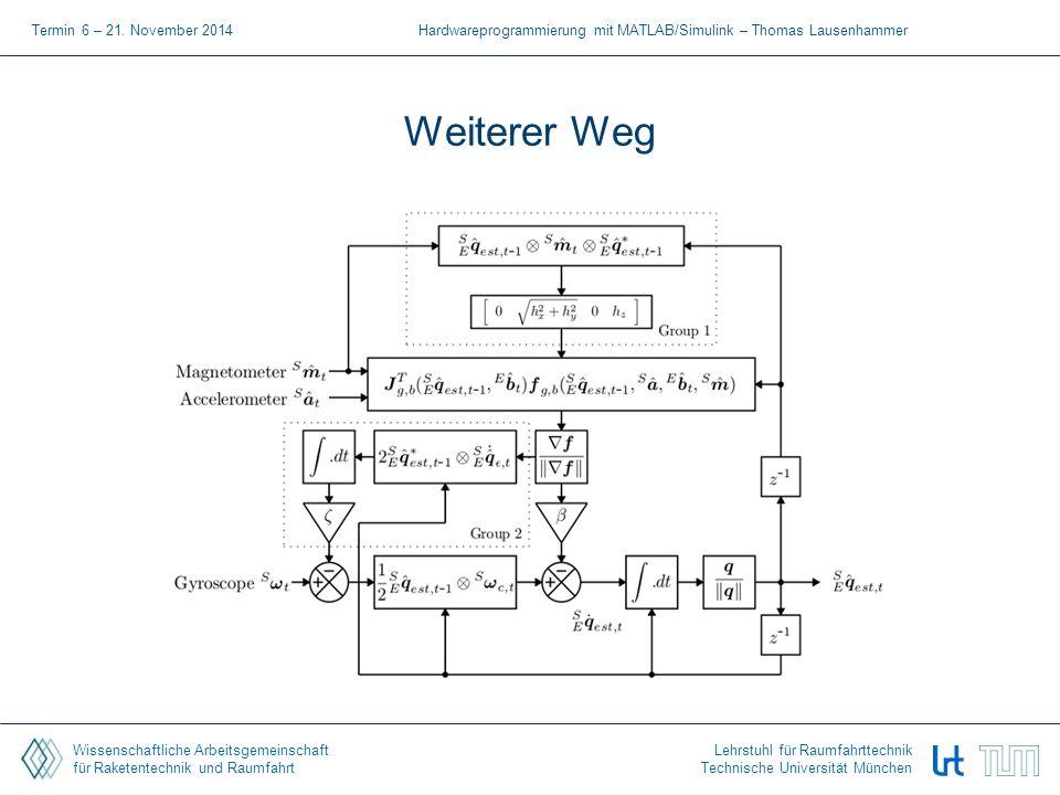 Wissenschaftliche Arbeitsgemeinschaft für Raketentechnik und Raumfahrt Lehrstuhl für Raumfahrttechnik Technische Universität München Weiterer Weg Term