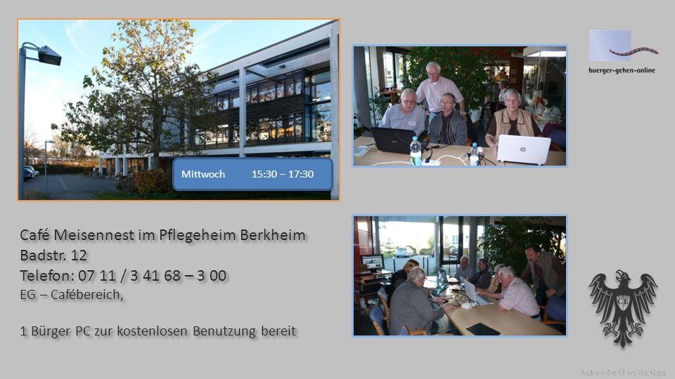 Café Meisennest im Pflegeheim Berkheim Badstr.