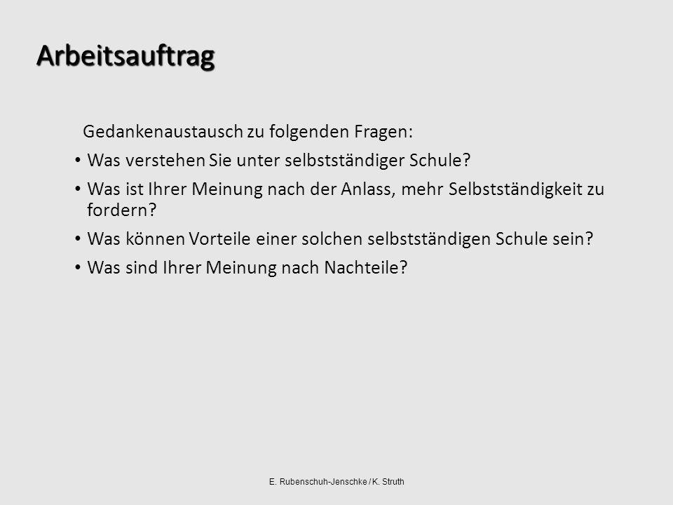 E. Rubenschuh-Jenschke / K. Struth Selbstständige Schule und Schulentwicklung