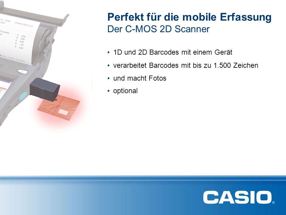 Perfekt für die mobile Erfassung optional Der C-MOS 2D Scanner 1D und 2D Barcodes mit einem Gerät verarbeitet Barcodes mit bis zu 1.500 Zeichen und macht Fotos