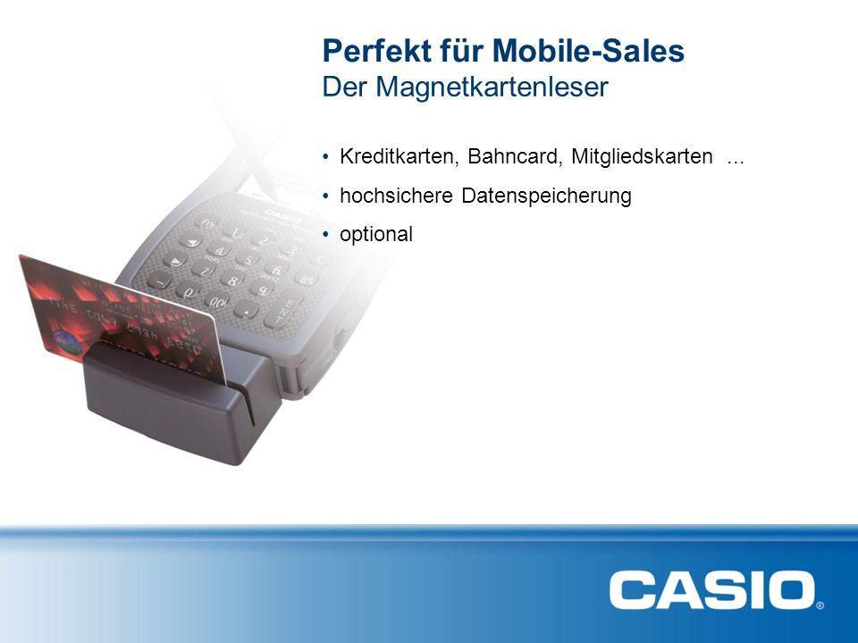 Der Magnetkartenleser Perfekt für Mobile-Sales Kreditkarten, Bahncard, Mitgliedskarten... hochsichere Datenspeicherung optional