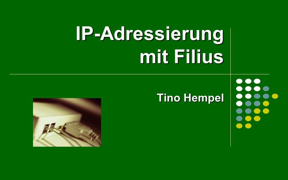 IP-Adressierung Wenn der Netzteil zweier IP-Adressen identisch ist, dann können die Endgeräte miteinander kommunizieren.