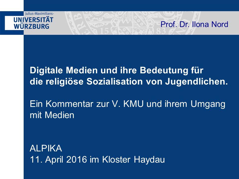 Digitale Medien und ihre Bedeutung für die religiöse Sozialisation von Jugendlichen.