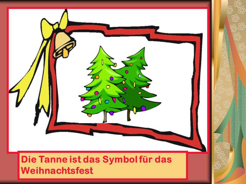 Die Tanne ist das Symbol für das Weihnachtsfest