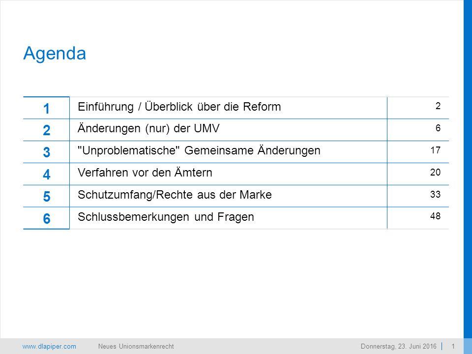 www.dlapiper.com 1 Neues UnionsmarkenrechtDonnerstag, 23.
