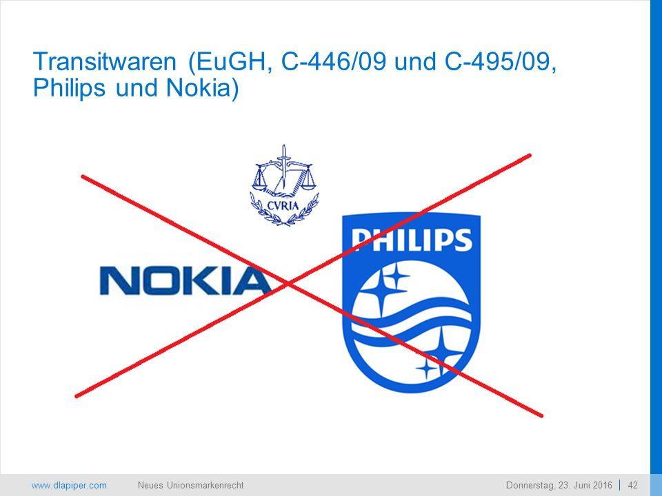 www.dlapiper.com 42 Neues UnionsmarkenrechtDonnerstag, 23.