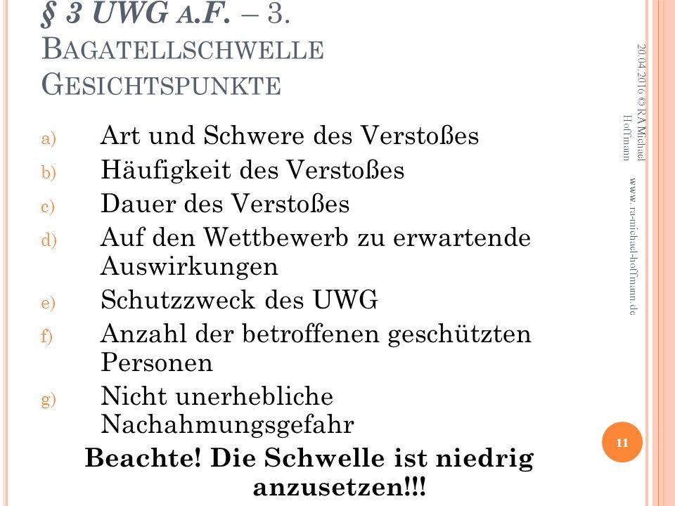 § 3 UWG A.F. – 3.