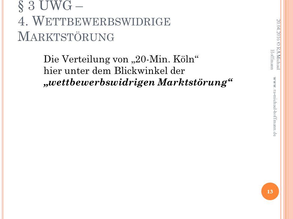 § 3 UWG – 4.