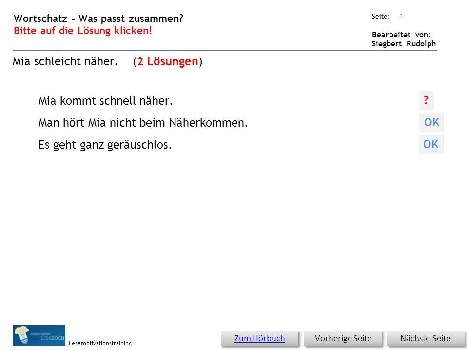 Übungsart: Seite: Bearbeitet von: Siegbert Rudolph Lesemotivationstraining Lesemühle Ein Wesen stieg aus der Dose.