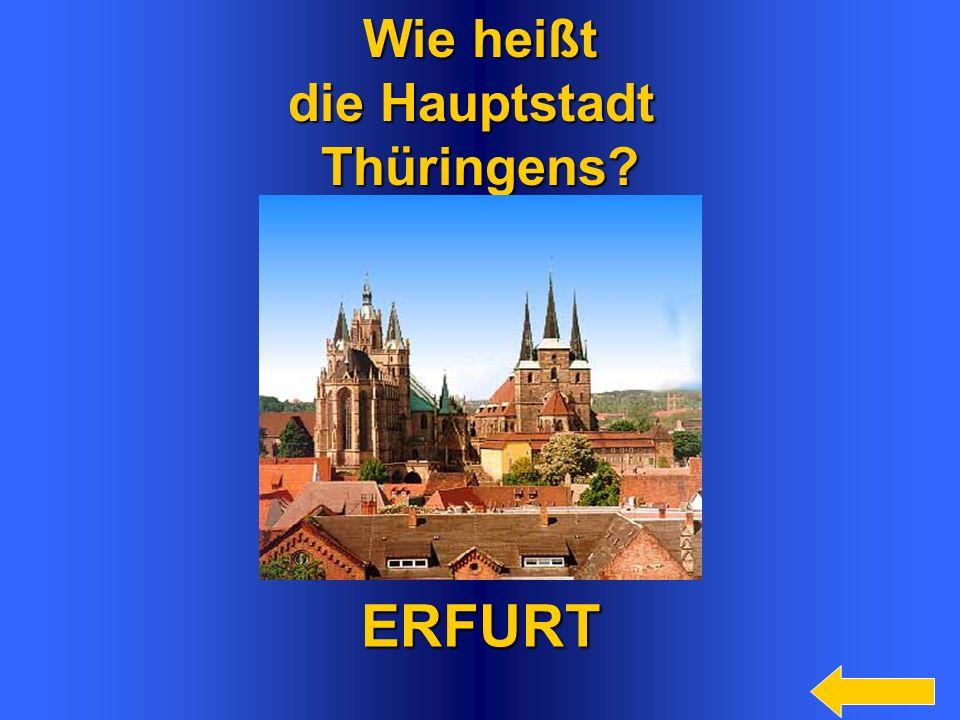 10 Wie heißt das kleinste Bundesland? Bremen