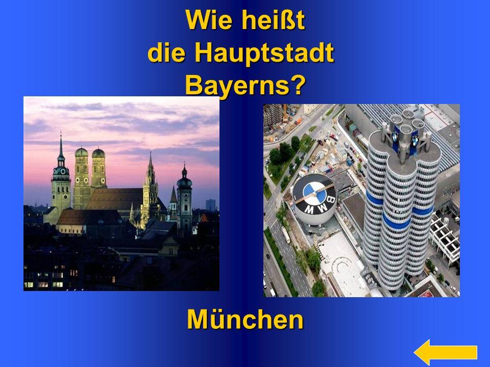 8 Wie heißt die Hauptstadt Bayerns?München