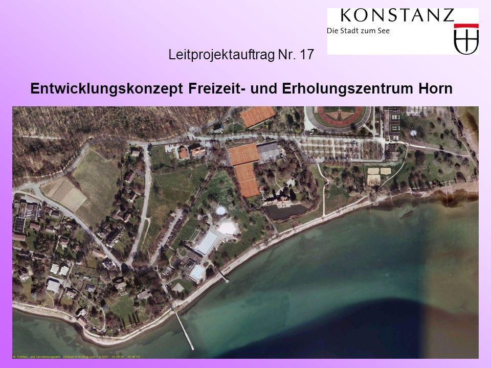 Grundlagen  Rückfall der privat betriebenen Tennisanlage an die Stadt Konstanz, spätestens im Jahr 2009  Überplanbare Flächen mit Entwicklungspotential  Vorhandene Potentiale: Bodensee-Therme, Waldhaus Jakob, Villa Seeheim