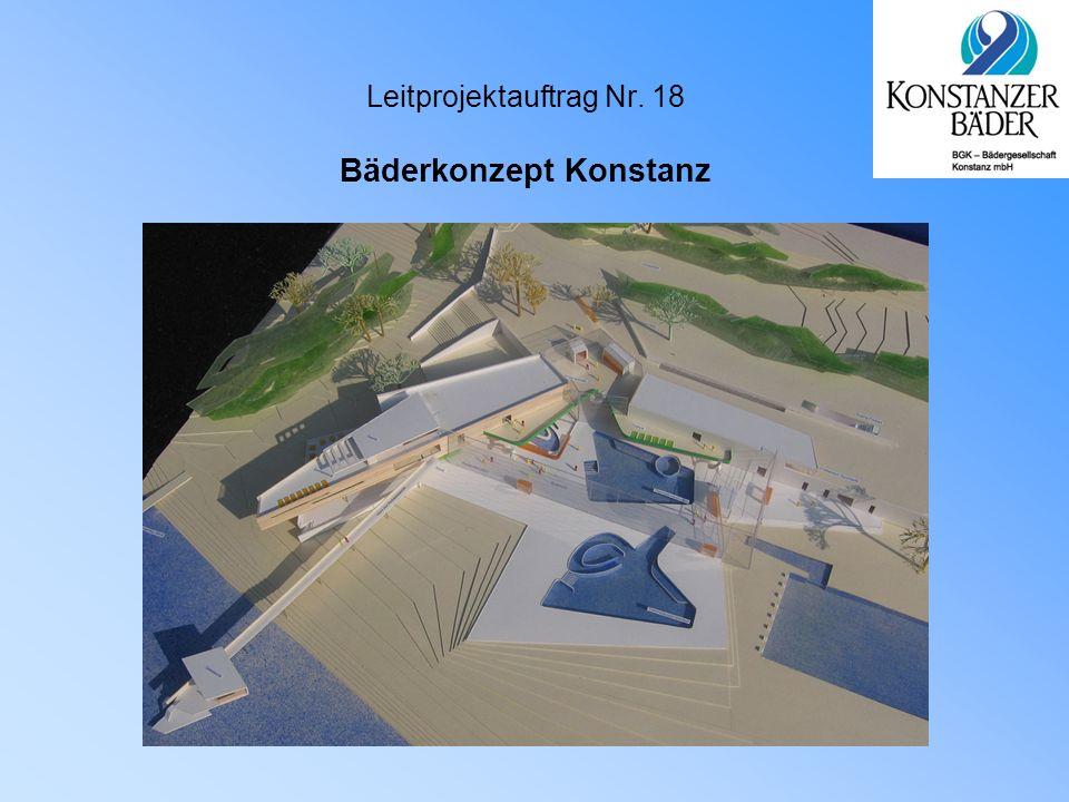 Grundlagen  Bedürfnis nach Gesundheit  Schwimmen und Baden liegen im Trend  Stadt mit höchster Präferenz für Schwimmen und Baden  Bäderkonzept 2004  Investitionskonzept 25,91 Mio €  Sanierungskonzept 2,37 Mio €