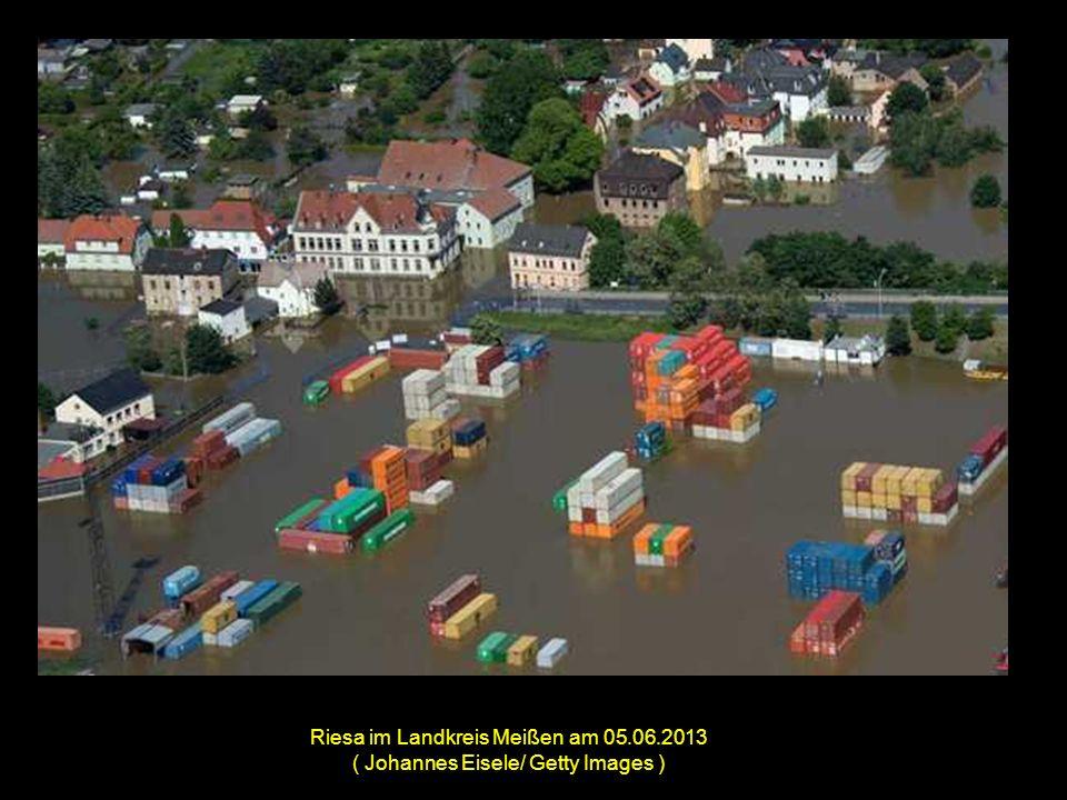 Die überflutete Innenstadt von Meißen am 05.06.2013 ( Johannes Eisele/ Getty Images )