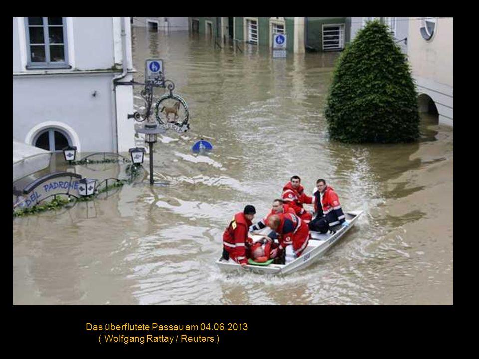 Das Hochwasser der Elbe hat am 04.06.2013 Schloß Pilnitz in Dresden erreicht ( Arno Burgi / Getty Images )