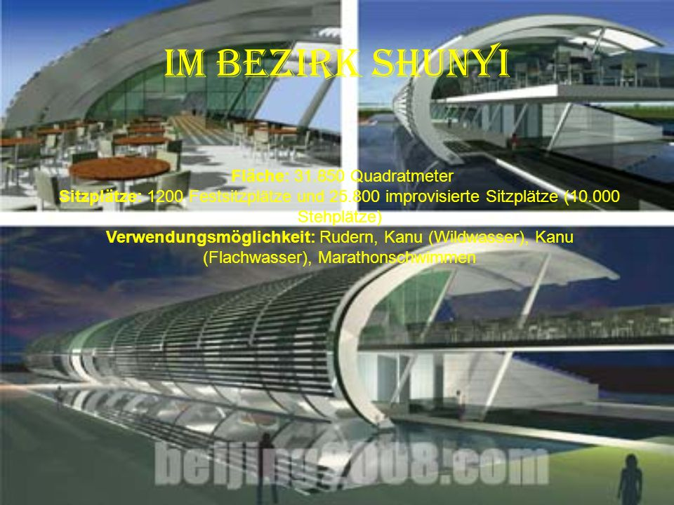 im Bezirk Shijingshan Fläche: 32.920 Quadratmeter Sitzplätze: 3000 Festsitzplätze und 3000 improvisierte Sitzplätze Verwendungsmöglichkeit: Bahnrennen