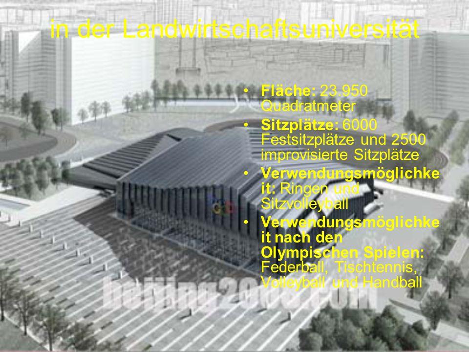 im Bezirk Shunyi Fläche: 31.850 Quadratmeter Sitzplätze: 1200 Festsitzplätze und 25.800 improvisierte Sitzplätze (10.000 Stehplätze) Verwendungsmöglichkeit: Rudern, Kanu (Wildwasser), Kanu (Flachwasser), Marathonschwimmen