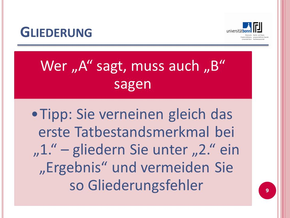 F EHLER 2  Häufig zu finden: Das Konkretzitat.