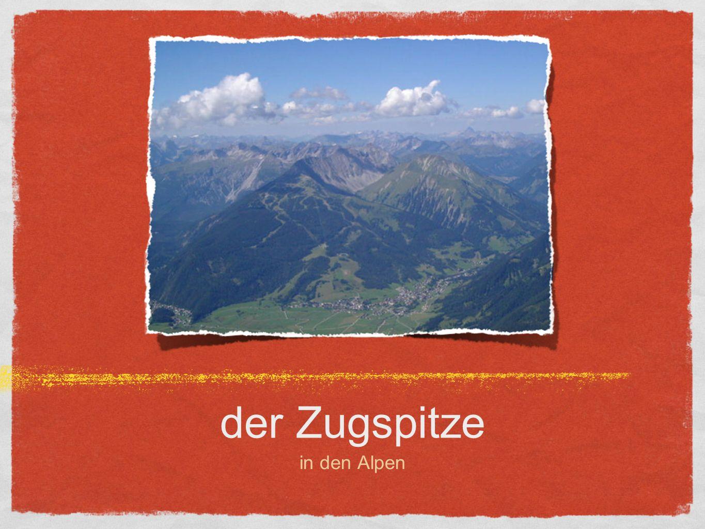 der Zugspitze in den Alpen
