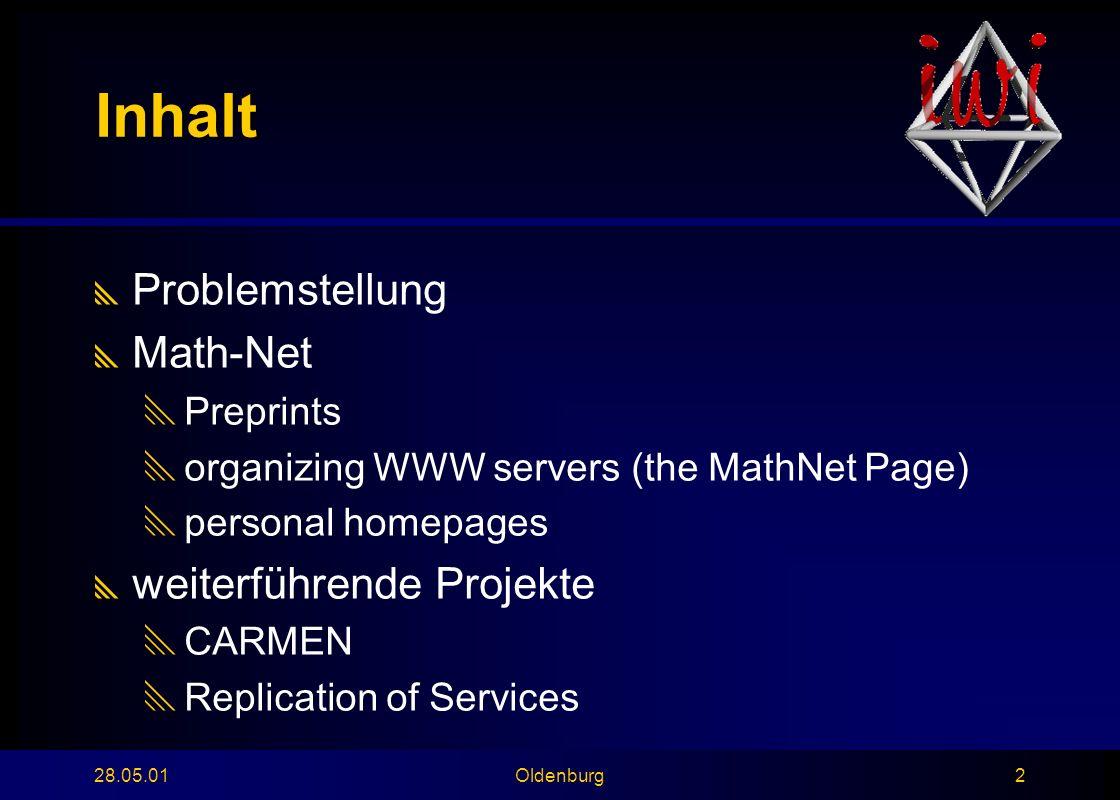 28.05.01Oldenburg13 Suche in festen Datenfeldern bzw.