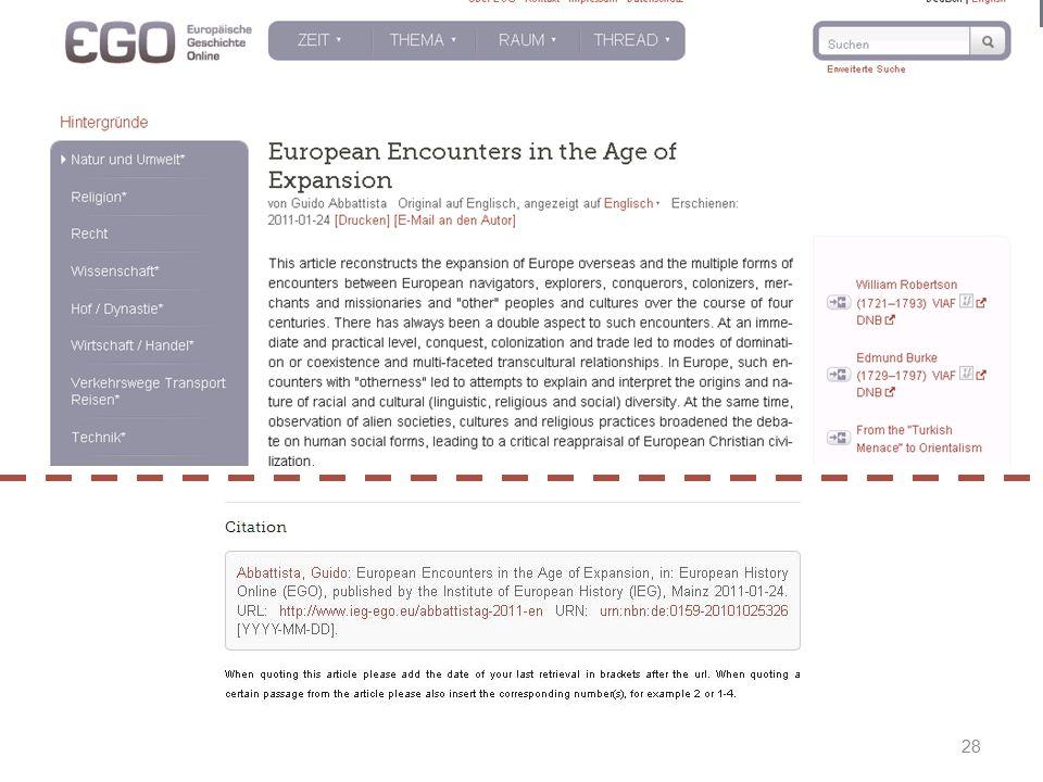Prof. Dr. Irene Dingel EGO  Europäische Geschichte Online Prof. Dr. Irene Dingel EGO  Europäische Geschichte Online Zitierempfehlung 28