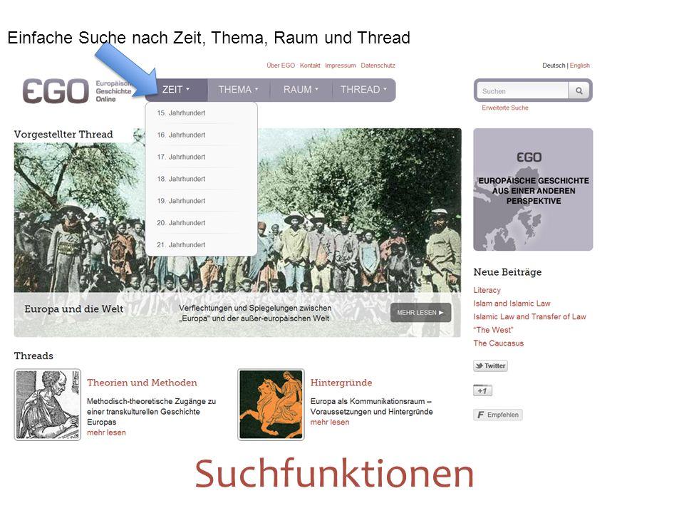 Einfache Suche nach Zeit, Thema, Raum und Thread 12 Suchfunktionen