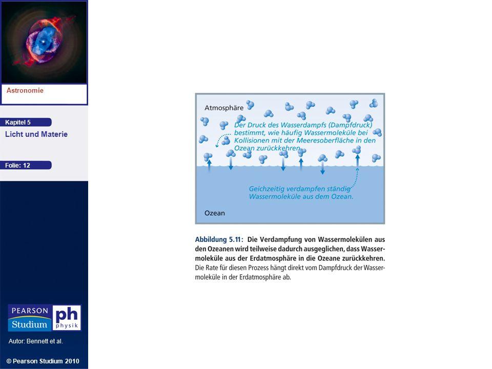 Kapitel 5 Astronomie Autor: Bennett et al. Licht und Materie © Pearson Studium 2010 Folie: 12