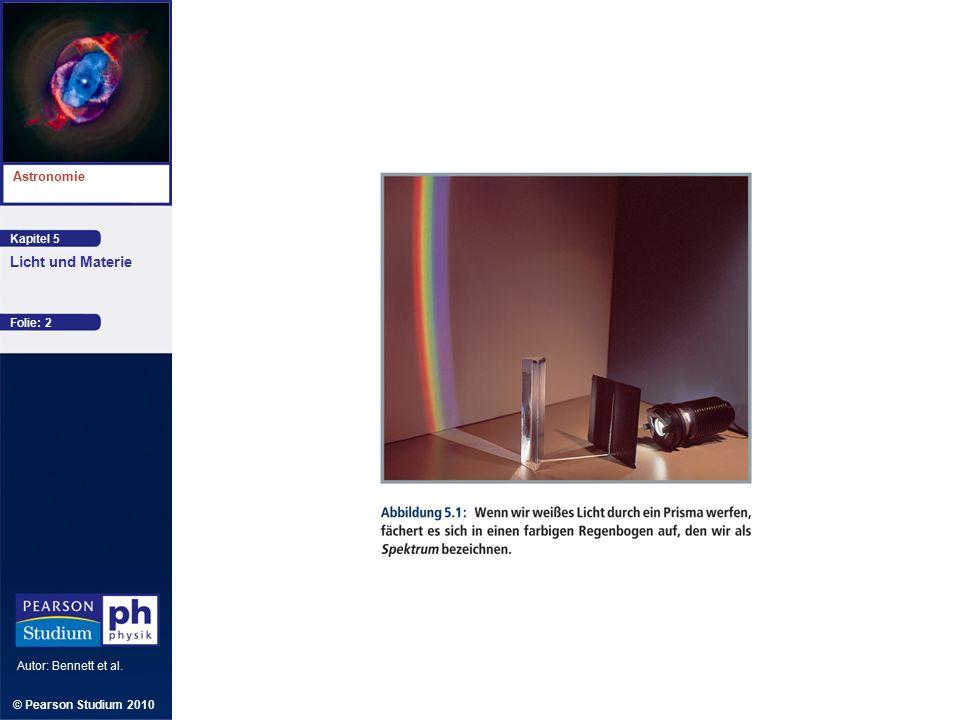 Kapitel 5 Astronomie Autor: Bennett et al. Licht und Materie © Pearson Studium 2010 Folie: 2