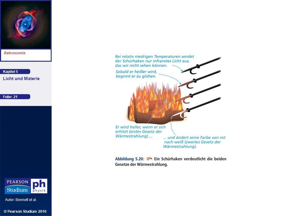 Kapitel 5 Astronomie Autor: Bennett et al. Licht und Materie © Pearson Studium 2010 Folie: 21