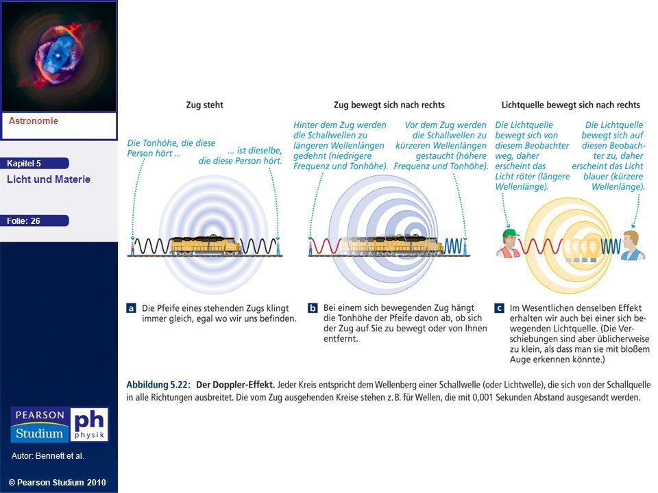 Kapitel 5 Astronomie Autor: Bennett et al. Licht und Materie © Pearson Studium 2010 Folie: 26