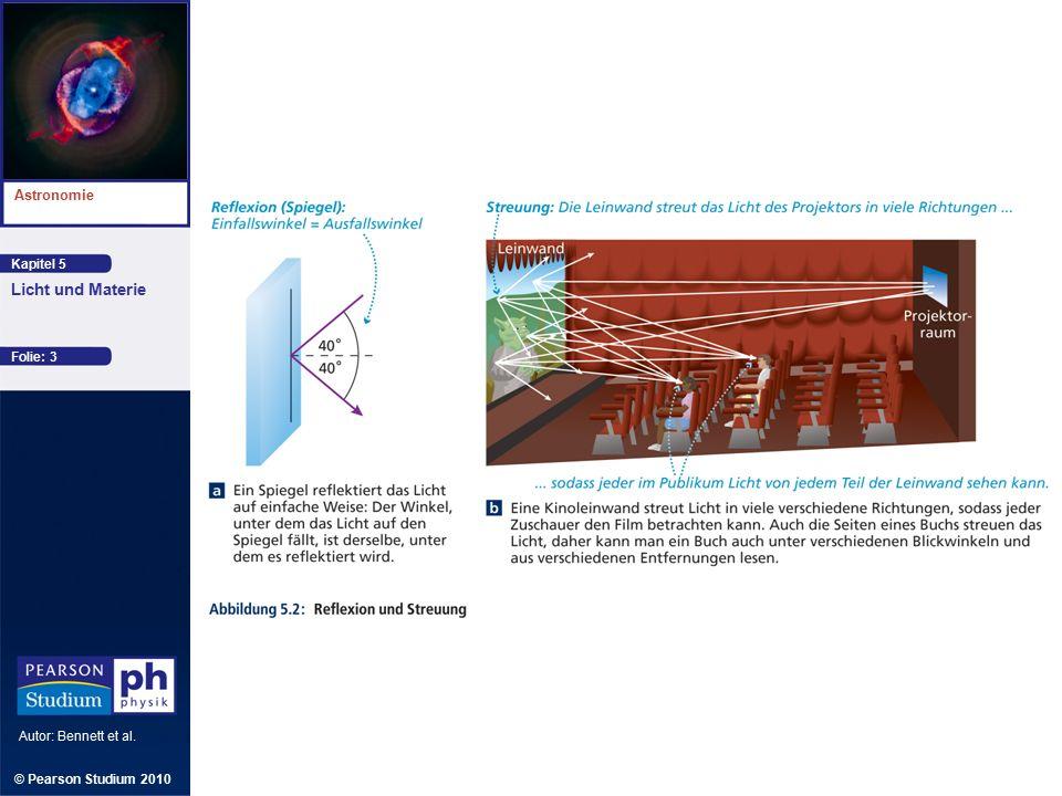 Kapitel 5 Astronomie Autor: Bennett et al. Licht und Materie © Pearson Studium 2010 Folie: 14