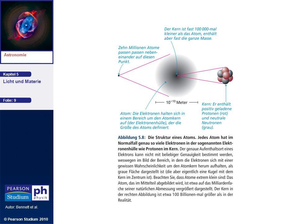 Kapitel 5 Astronomie Autor: Bennett et al. Licht und Materie © Pearson Studium 2010 Folie: 9
