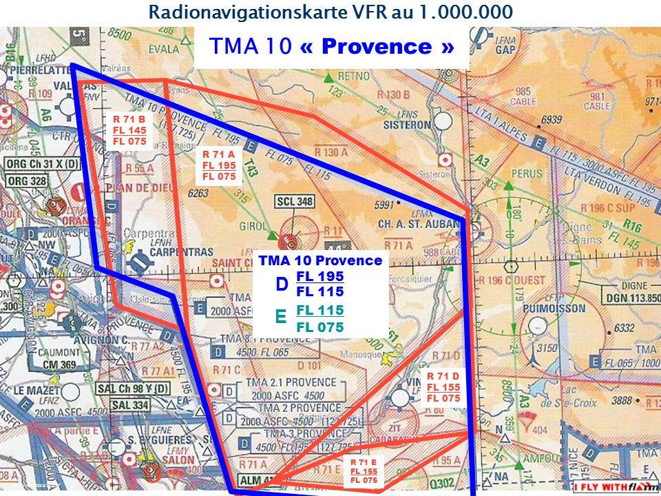 Quelle : AIP France ENR 2.3-34 KTZ – Octobre 2007 TMA 10 « Provence » Status : Konrollierter Luftraum Klasse D, bzw.