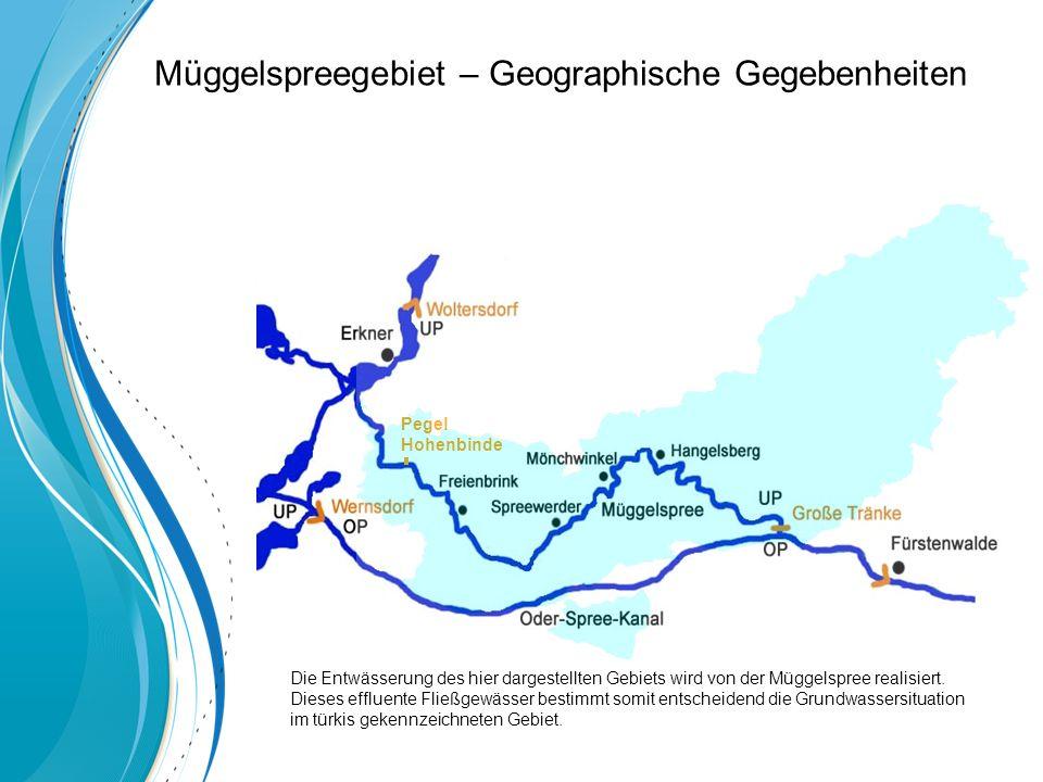 Pegel Hohenbinde Die Entwässerung des hier dargestellten Gebiets wird von der Müggelspree realisiert.