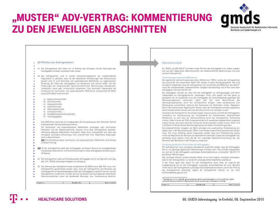 """""""Muster ADV-Vertrag: Kommentierung zu den jeweiligen Abschnitten 60."""