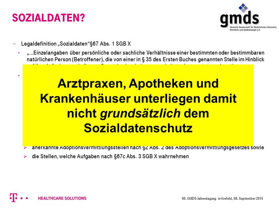"""Sozialdaten.  Legaldefinition """"Sozialdaten §67 Abs."""