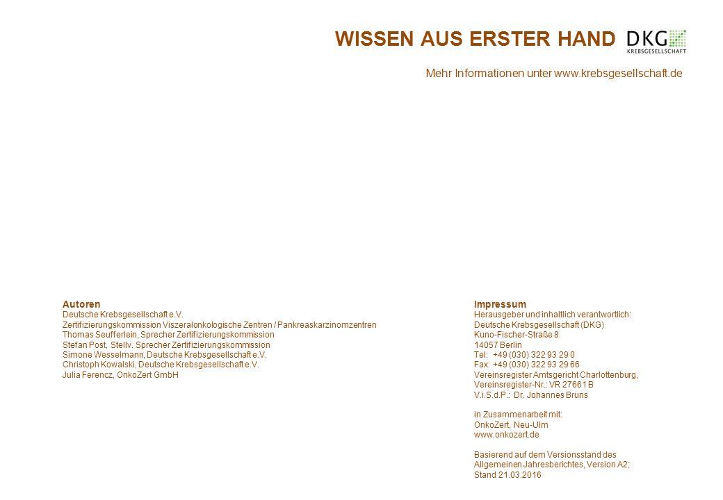 Impressum Herausgeber und inhaltlich verantwortlich: Deutsche Krebsgesellschaft (DKG) Kuno-Fischer-Straße 8 14057 Berlin Tel: +49 (030) 322 93 29 0 Fax: +49 (030) 322 93 29 66 Vereinsregister Amtsgericht Charlottenburg, Vereinsregister-Nr.: VR 27661 B V.i.S.d.P.: Dr.