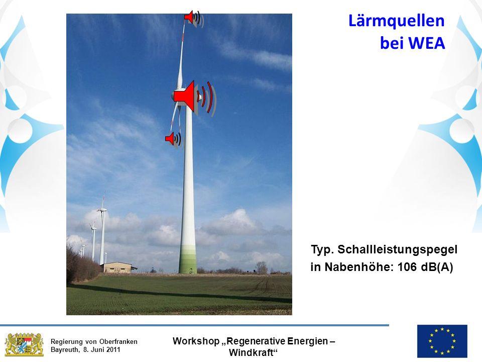 """Regierung von Oberfranken Bayreuth, 8. Juni 2011 Workshop """"Regenerative Energien – Windkraft Typ."""